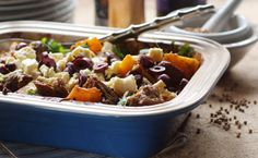 Lamb, Butternut and Coriander Casserole Recipe Casserole Recipes, Meat Recipes, Coriander, Soul Food, Family Meals, Stew, Lamb, Food And Drink, Easy Meals