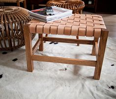 Gorgeous wood and leather seat #crafts #wood #leather