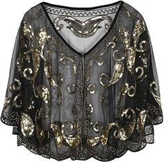 online shopping for PrettyGuide Women's Evening Cape Sequin Deco Paisley Shawl Flapper Cover from top store. See new offer for PrettyGuide Women's Evening Cape Sequin Deco Paisley Shawl Flapper Cover Shawls For Evening Dresses, Women's Evening Jackets, Capes For Women, Cardigans For Women, Jackets For Women, Dress With Cardigan, Cape Dress, Sequin Wedding, Wedding Cape