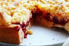 Streuselkuchen mit Kirschen - vegan und glutenfrei