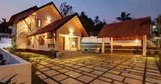 Home Plans Kerala. Home Style. House Architecture Styles, Roof Architecture, House Front Design, Modern House Design, Chettinad House, Indian House Plans, Home Exterior Makeover, Modern Contemporary Homes, Kerala Houses