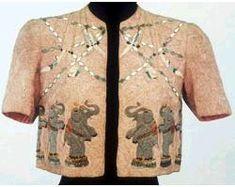 Schiaparelli,Bolero jacket, 1938, dancing elephants