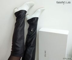 1247e59110aa Nothing screams glamor like a pair of gorgeous boots. Beauty s Lab has just  the thing for you. These stunning brand new two-tone over the knee Celine  boots