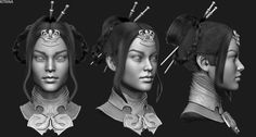 ArtStation - Mortal Kombat X - Princess Kitana, Solomon Gaitan Kitana Costume, Kitana Cosplay, Kung Jin, Kitana Mortal Kombat, Character Art, Character Design, Mileena, Woman Face, Female Characters