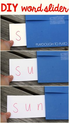 Activity for ages 4 to 7. As kids learn letter sounds they can start putting those sounds together to read words. This super simple word slider is an awesome visual showing them how to do just that. It's one of those teaching tricks you'll never want to forget. Getting Ready To make the slider, I gathered a few supplies: A stack of …