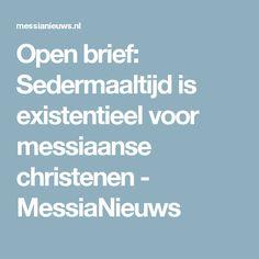 Open brief: Sedermaaltijd is existentieel voor messiaanse christenen - MessiaNieuws