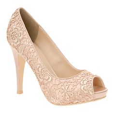 Call It Spring® Federle Peep-Toe Pumps : all women's shoes : womens shoes : jcpenney Wedding High Heels, Bridal Heels, Wedding Shoes, Lace Wedding, Spring Wedding, Trendy Wedding, Perfect Wedding, Wedding Stuff, Wedding Dress