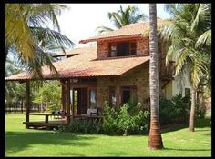 CASA SITIO - Buscar con Google Village House Design, Village Houses, Cabins And Cottages, Beach Cottages, Design Rustique, Adobe House, Weekend House, Tropical Houses, Traditional House