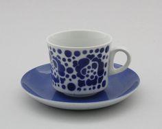 Arabia,  kahvikuppi, retro koriste