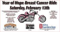 Biloxi, MS - Feb. 13, 2016: Mississippi Coast Harley-Davidson's Year of Hope Breast Cancer motorcycle Ride, helping GoGo's Breast Cancer Foundation.