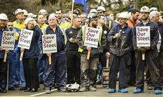 Cameron defends blocking steel tariffs as Javid faces workers' anger   Business   The Guardian