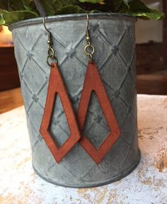 Leather Dangle Earrings/Leather Earrings /HGTV Joanna Gaines