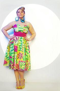 JIBRI Plus Size Flirty Graphic Dress by jibrionline on Etsy, $190.00