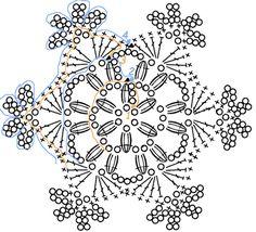 pagina con tanti diagrammi facili di fiocchi di neve Snowflake - diagramm;