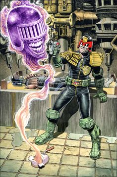 Judge Dredd vs Judge Death by Chris Weston