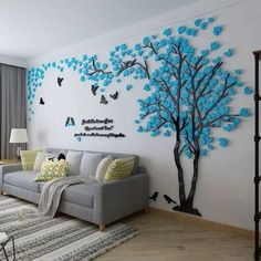 # Big Tree Wall Murals for Living Room Bedroom Sofa Backdrop TV Background Wall Stickers Home Art DecorationsPin by Asma Tung on Work in book tree signatures tree prints on a cotton 40 x 40 cm to 60 – ArtofitBild – Denise Contreras – Willk Wall Murals Bedroom, Tree Wall Murals, Bedroom Sofa, Room Wall Decor, Tree Wall Decor, Mural Wall Art, Tree Wall Art, Wall Decorations, Bedroom Stickers