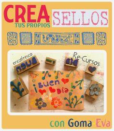 ericatfresco - Arte y Diseño: Crea tus propios sellos - con goma-eva!!