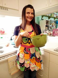 NErDY or ORigINAL // Rainbow Owl Apron// Neon by ZigZags123, $60.00