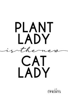 Plant lady is the new cat lady Quote Posters, Quote Prints, Sayings And Phrases, Modern Wall Art, Gift For Lover, Cat Lady, Motivational Quotes, Plants, Inspiration