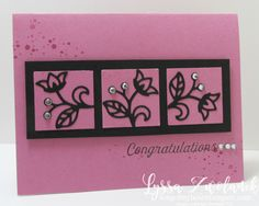 Sugarplum card stampin up congratulations congrats song of my heart