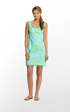 "Lilly Pulitzer ""Shorely Blue Lazy And Hazy"" print Logan dress."