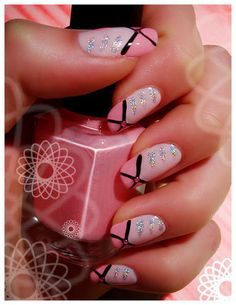 These pink nails would be fab for a night out to a fashion show! This design would also look great on our Fashion-length custom-fit nails! You can win a set by RSVPing to the Custom Nail Solutions Facebook June GIVEAWAY at http://www.facebook.com/events/120078404796629/ and by following on Twitter at https://twitter.com/#!/customnails and tweeting:    RT this and follow @customnails to #win 1 Impression System & 1 Set of Custom-Fit nails! #CNSgiveaway    Hurry, the contest ends June 30!