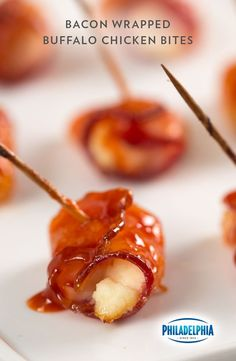 Looking for a summer appetizer that's both sweet and savory? Follow your nose towards our recipe for Bacon-Wrapped Buffalo Chicken Bites.