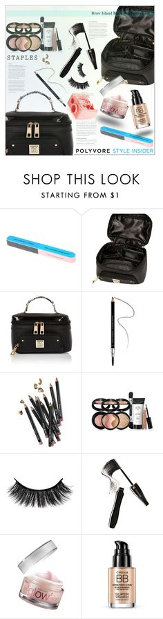 """Makeup Bag Staples"" by meyli-meyli ❤ liked on Polyvore featuring beauty, River Island, Givenchy, Bobbi Brown Cosmetics, Lancôme, Benefit, contestentry, PVStyleInsiderContest and makeupbagstaples"