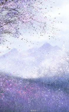 Cute Wallpaper Backgrounds, Scenery Wallpaper, Kawaii Wallpaper, Pretty Wallpapers, Flower Wallpaper, Galaxy Wallpaper, Fantasy Landscape, Landscape Art, Fantasy Art