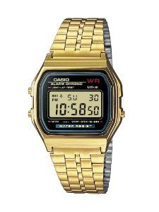 Casio A159WGEA-1EF Casio Gold Classic Collection Casio. $44.00. Chronograph. Alarm. Date. LCD Display. Backlight. Save 46%!