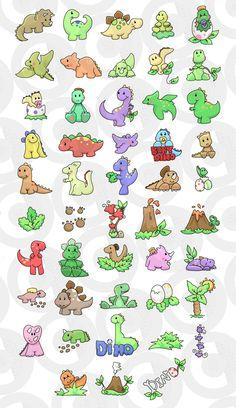 Dinossauros Diversos e Bonitinhos