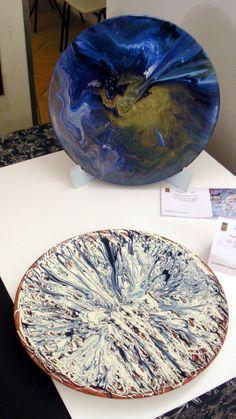 """Ceramiche """"esplosioni"""" diam. 45 anno 1998"""