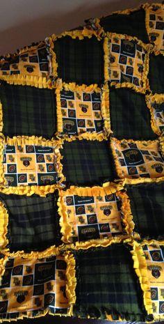 Baylor Bears rag quilt I made for my sister💜