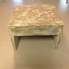 Stool that I refinished to make it look more rustic/old