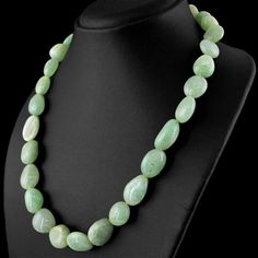 Single Strand Green Aventurine Necklace Natural Untreated Beads  #strand #beads #necklace #shubhamjewels #beaded #gemstone #gemsmore