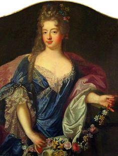 ca. 1700 Suzanne Henriette de Lorraine-Elbeuf, duchesse de Mantoue by Pierre Gobert (Musée de Brou, Bourg-en-Bresse, Ain department France)