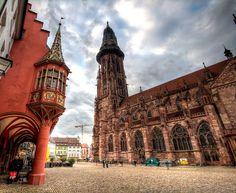 Freiburg cathedral http://maupintour.com/tour/romantic-germany-tour-group-1