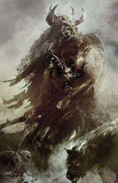 Barbarian warrior, Mika Koskensalmi on ArtStation at https://www.artstation.com/artwork/barbarian-warrior-24234375-4878-4a43-9475-90cecdc8a4a5
