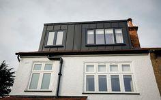 Contemporary zinc loft extension