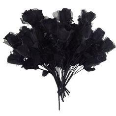 Charlton Home Charlton Home Roses Stems,Bushes, and Sprays Flower Colour: Black Black Rose Bouquet, Black Flowers, Colorful Flowers, Black Roses, Viking Wedding, Gothic Wedding, Dream Wedding, Orchid Flower Arrangements, Floral Centerpieces