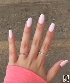 Ongles en Gel Rose Clair - New Ideas Light Pink Gel Nails Ongles gel UV rose clair. Acrylic Nails Coffin Short, Simple Acrylic Nails, Summer Acrylic Nails, Best Acrylic Nails, Pink Coffin, Acrylic Nail Designs For Summer, Painted Acrylic Nails, Light Pink Nail Designs, Pink Summer Nails