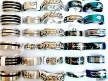 wholesale Lots mixed 100pcs top-quality Stainless steel tribal vogue bikers sports lady/men's rings #7-22