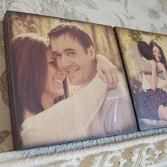 Great Idea for Wedding reception Centerpieces! Custom Photo Table Numbers <3