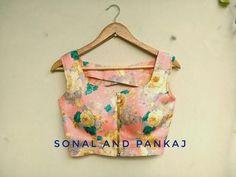 Ready To Wear Navy Blue & Peach Saree – SA00189 - #blousedesigns #blousedesignsBackless #blousedesignsModels #blousedesignsPattern