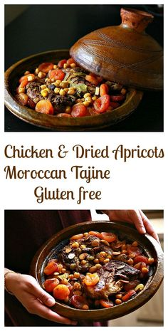 A lip smacking chicken with dried apricot Moroccan tajine. It's flavorsome, healthy and gluten free too! A true crowd pleaser! Tajin Recipes, Coctails Recipes, Surimi Recipes, Moroccan Tagine Recipes, Moroccan Dishes, Moroccan Food Recipes, Indian Recipes, Tagine Cooking, Lamb Tagine Slow Cooker