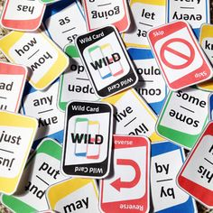 """Reinforce grades Pre K to third grade sight words with this """"UNO"""" style card game! Kids Sight Words, Teaching Sight Words, First Grade Sight Words, Sight Word Practice, Sight Word Games, Sight Word Activities, Literacy Activities, Literacy Centers, Children Activities"""