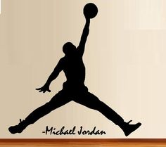 Michael Jordan Wall Decal Art Decor Sticker Bulls Decal Jumpman Decal  Michael Jordan Decal Stickers Jordan Decal Michael Jordan Poster | Michael  Jordan, ...