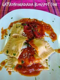 Gastronomía día a día: Pasta fresca: Ravioli rellenos de manitas de cerdo...