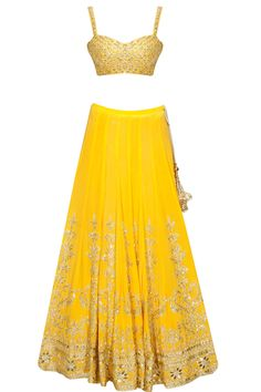 Mango sequins embroidered panels lehenga set available only at Pernia's Pop Up Shop.