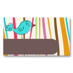 modern lovely and cute bird business card template